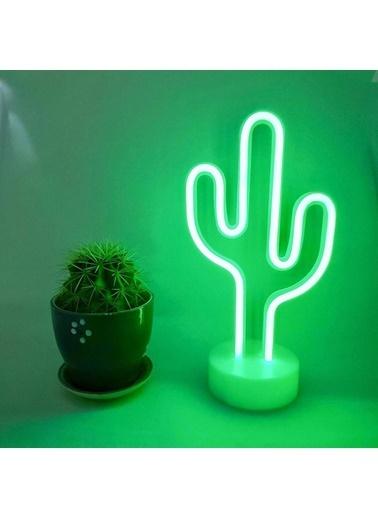 Buffer Kaktüs Dekoratif Neon Led Masa Ve Duvar Lambası Gece Lambası Renkli
